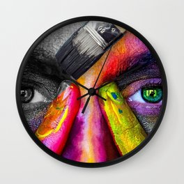 A World with Color Wall Clock