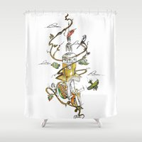 poland Shower Curtains featuring O'Prime Zielona Góra Poland Colour by O'Prime