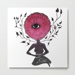 Divine Flower Woman Metal Print