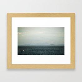 Towards The Deep Blue Sea Framed Art Print