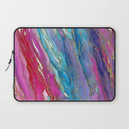 AGATE MAGIC PinkAqua Red Lavender, Marble Geode Natural Stone Inspired Watercolor Abstract Painting Laptop Sleeve