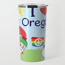 Ernest and Coraline | I love Oregon Travel Mug