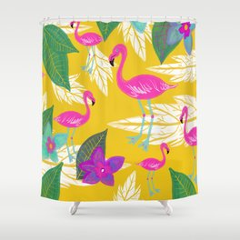 Flamingo Fantasy Shower Curtain