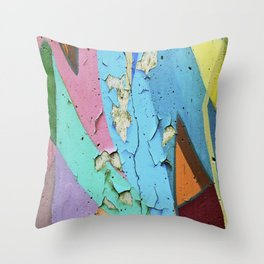 decay of art Throw Pillow