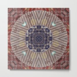 200417 Mandala Art - Manifestation of Abundance and Goals Metal Print