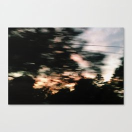 Traveling Sunset Canvas Print
