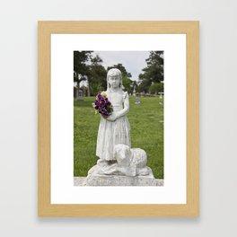 Girl Statue Framed Art Print