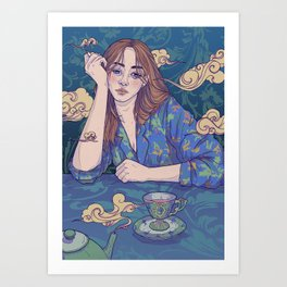 first cup of the day Art Print