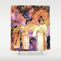 angels Shower Curtains featuring Angels by Saundra Myles