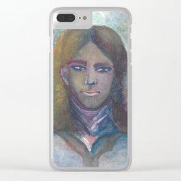 Rainbow Portrait Clear iPhone Case