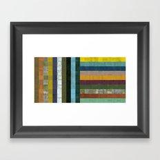 Wooden Abstract Vl Framed Art Print