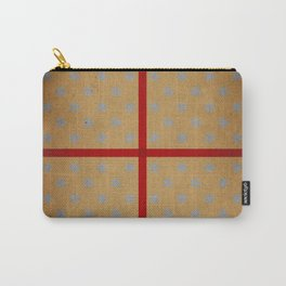 Present wrapped in gold paper and red ribbon Carry-All Pouch