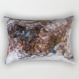 Tiny geode crystal cave Rectangular Pillow