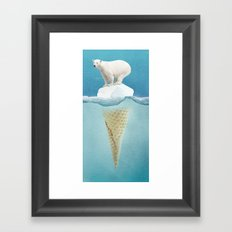 Polar ice cream cap Framed Art Print