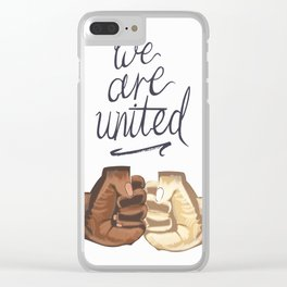 We Are United Clear iPhone Case