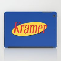 seinfeld iPad Cases featuring Kramer  - Seinfeld by Uhm.