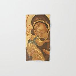 Orthodox Icon of Virgin Mary and Baby Jesus Hand & Bath Towel