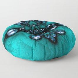 Regal Brooch Turquoise Floor Pillow