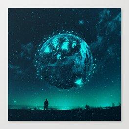 Descend - Surreal Sci-fi Poster Canvas Print
