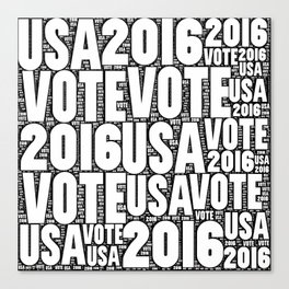 Vote USA 2016 Canvas Print