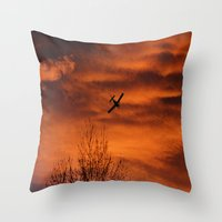 plane Throw Pillows featuring Plane by Fox Industries