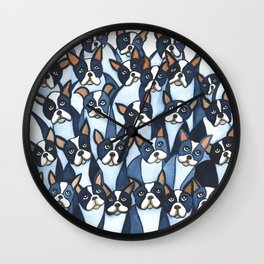 Many Boston Terriers Wall Clock