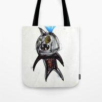 hero Tote Bags featuring Hero by landon zobel
