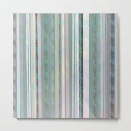 Sage coloured Stripes Metal Print