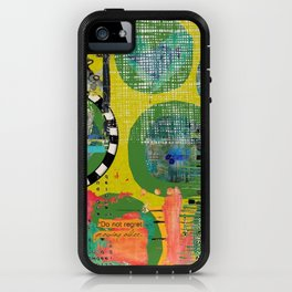 Colorful Circle Cut-out Abstract Art  iPhone Case