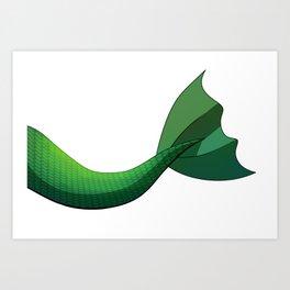 Emerald Mermaid Tail V2 Art Print