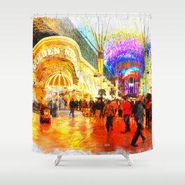 Fremont Street Experience Las Vegas Shower Curtain