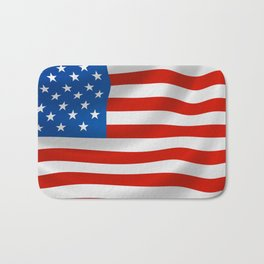 Patriotic American flag Bath Mat