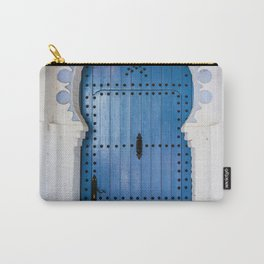 Blue Arch Door in Chefchaouen city Carry-All Pouch