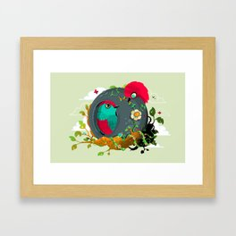 birdies in love Framed Art Print