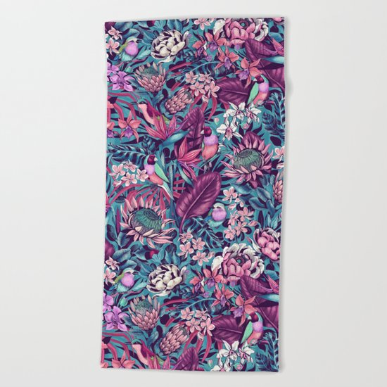 Stand Out! (electric blue) Beach Towel