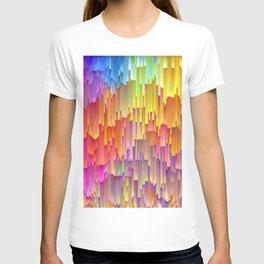Vibrant Rainbow Cascade Design T-shirt