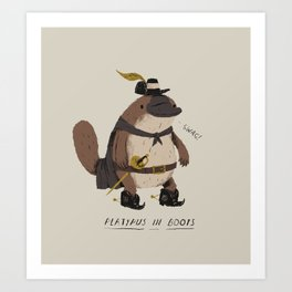 platypus in boots Art Print