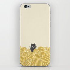 Cat and Yarn iPhone & iPod Skin