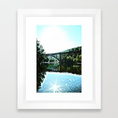 sinking creek Framed Art Print