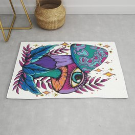 Mushrooms of Boundless Compassion Rug