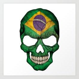 Exclusive Brazil skull design Art Print