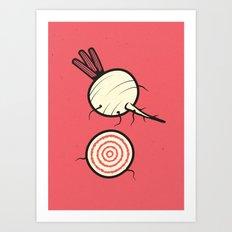 Heirlooms: Chioggia Beet Art Print