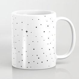 Star-field - Black & White Coffee Mug