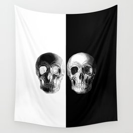 Monochrome Skull Wall Tapestry