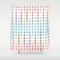 dots Shower Curtains featuring DOTS by C O R N E L L