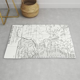 Black And White Vintage Map Of Africa Rug