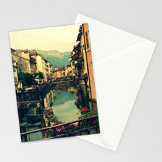 Moody Canal in Annecy, France Stationery Cards