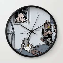Ball-addicted dogs Wall Clock