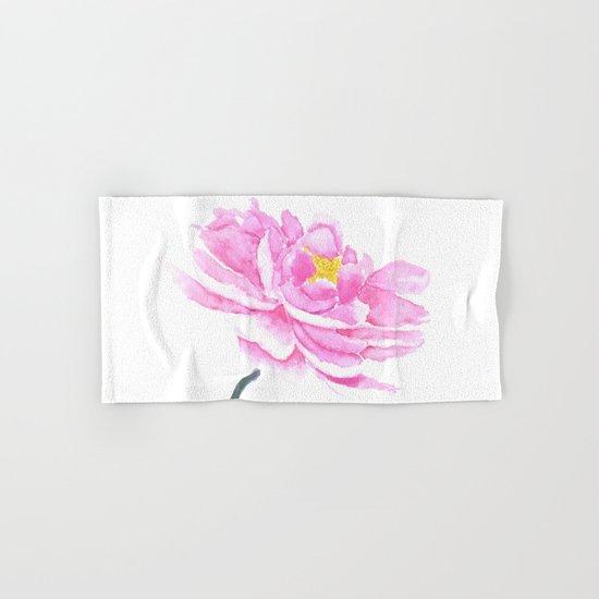 pink peony  Hand & Bath Towel