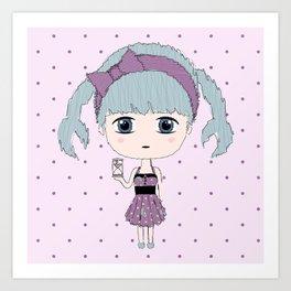 Cancer Girl Art Print